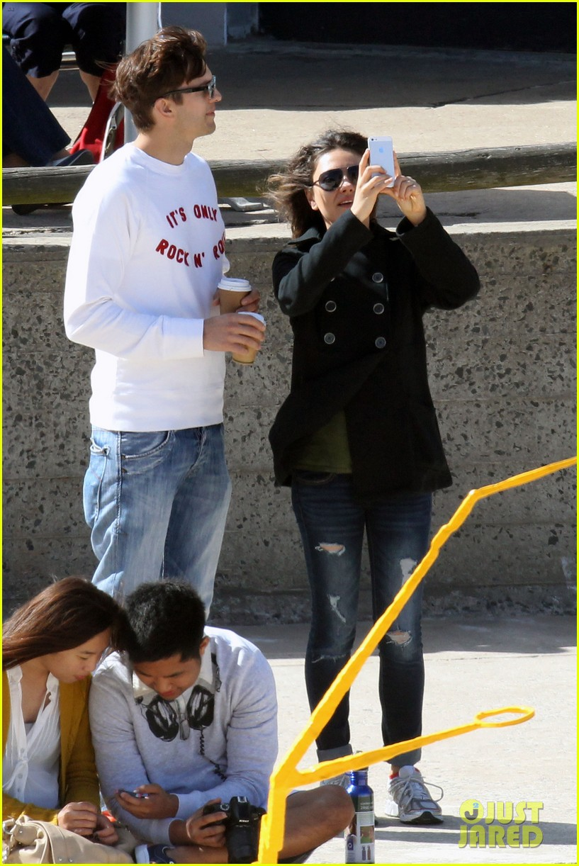 mila kunis ashton kutcher bondi to bronte beach walk 182749772