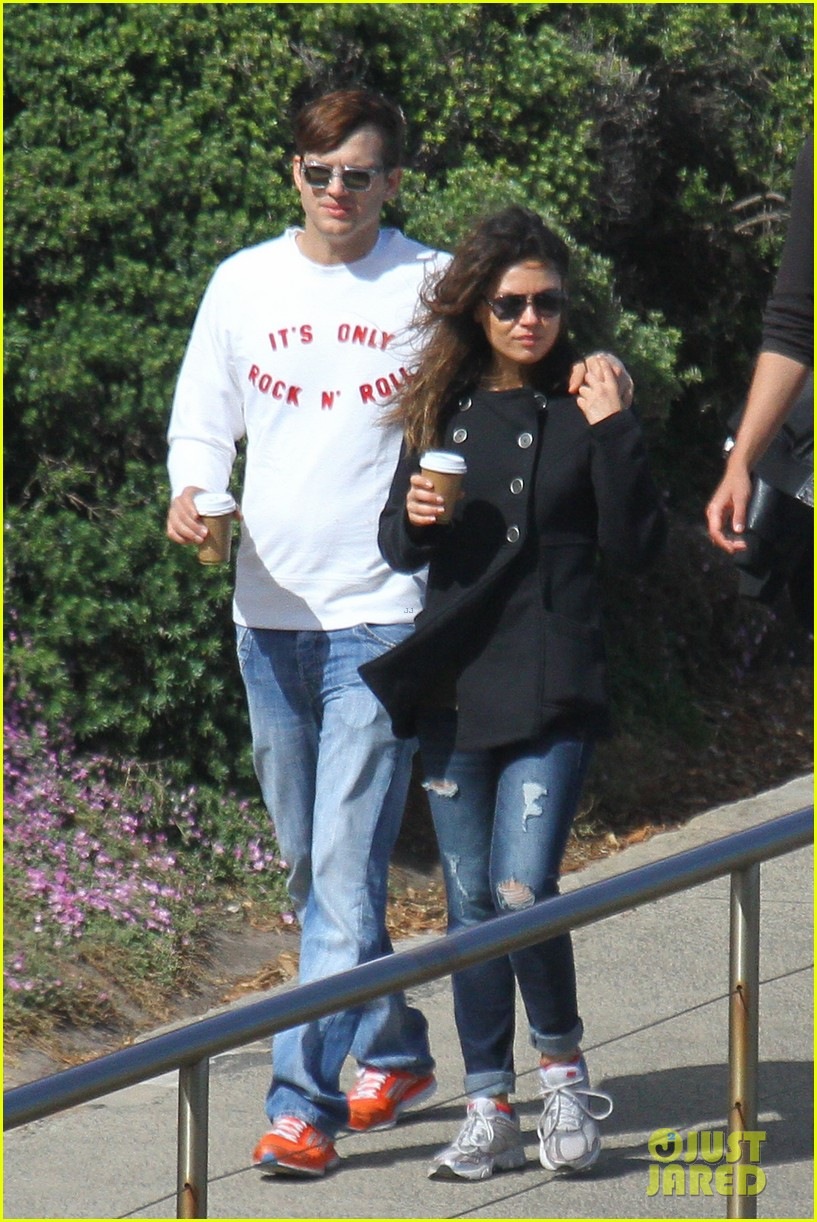 mila kunis ashton kutcher bondi to bronte beach walk 222749776