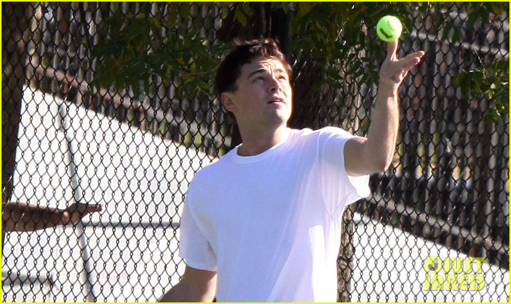 leonardo dicaprio wolf of wall street tennis match 022757461