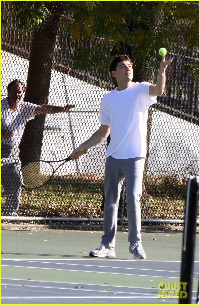 leonardo dicaprio wolf of wall street tennis match 042757463