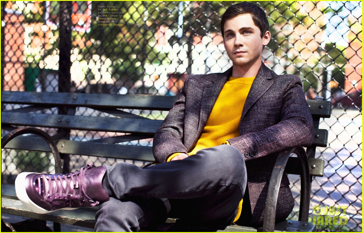 logan lerman covers visual ties magazine 162760092