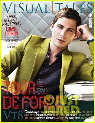 logan lerman covers visual ties magazine 192760095