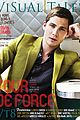 logan lerman covers visual ties magazine 19