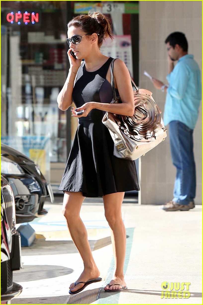 eva longoria leggy lunch in sherman oaks 332751602