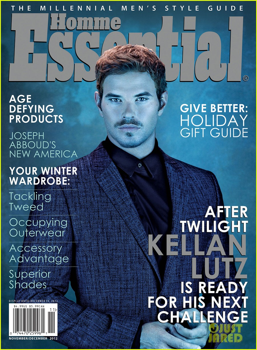 kellan lutz covers essential homme november december 03