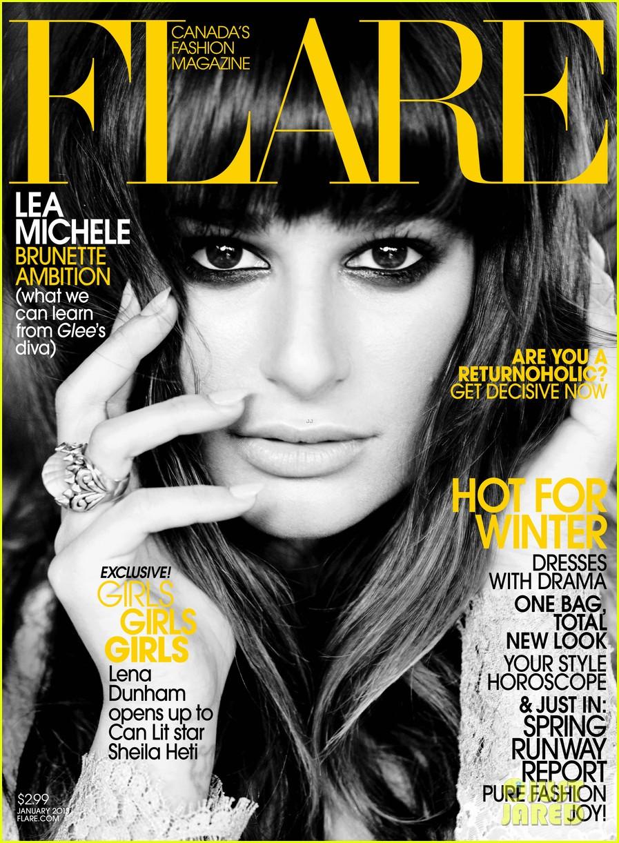 lea michele covers flare january 2013 012764149