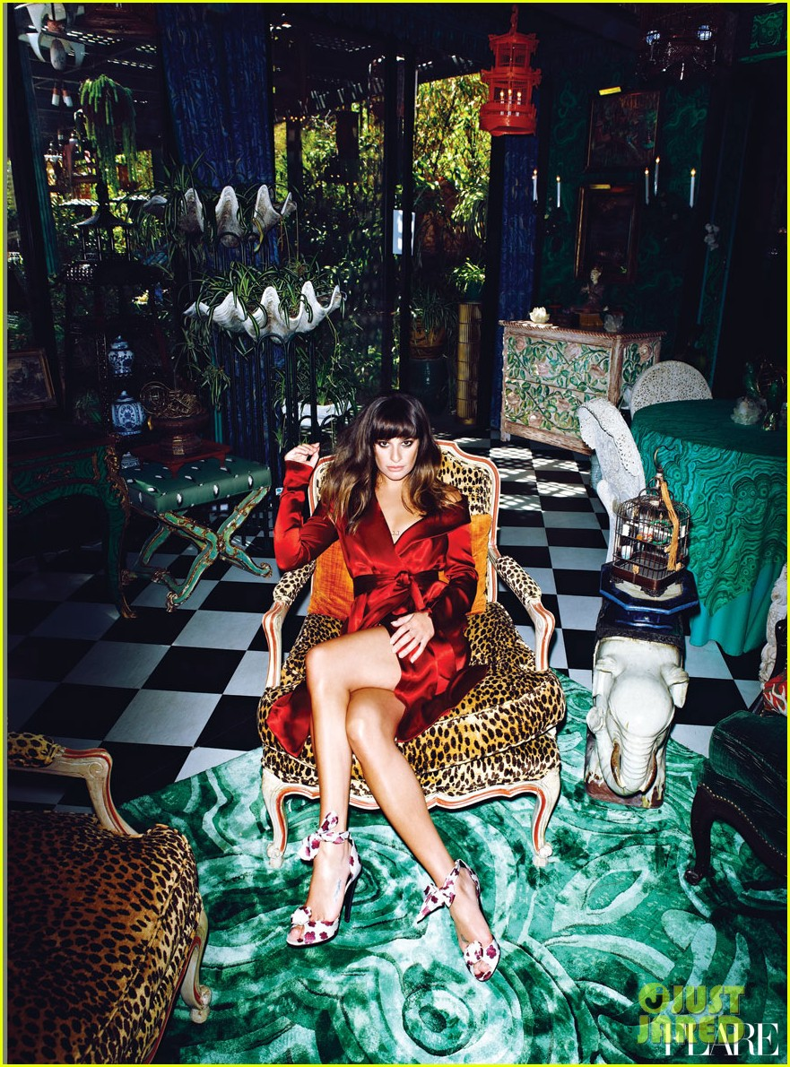 lea michele covers flare january 2013 022764150