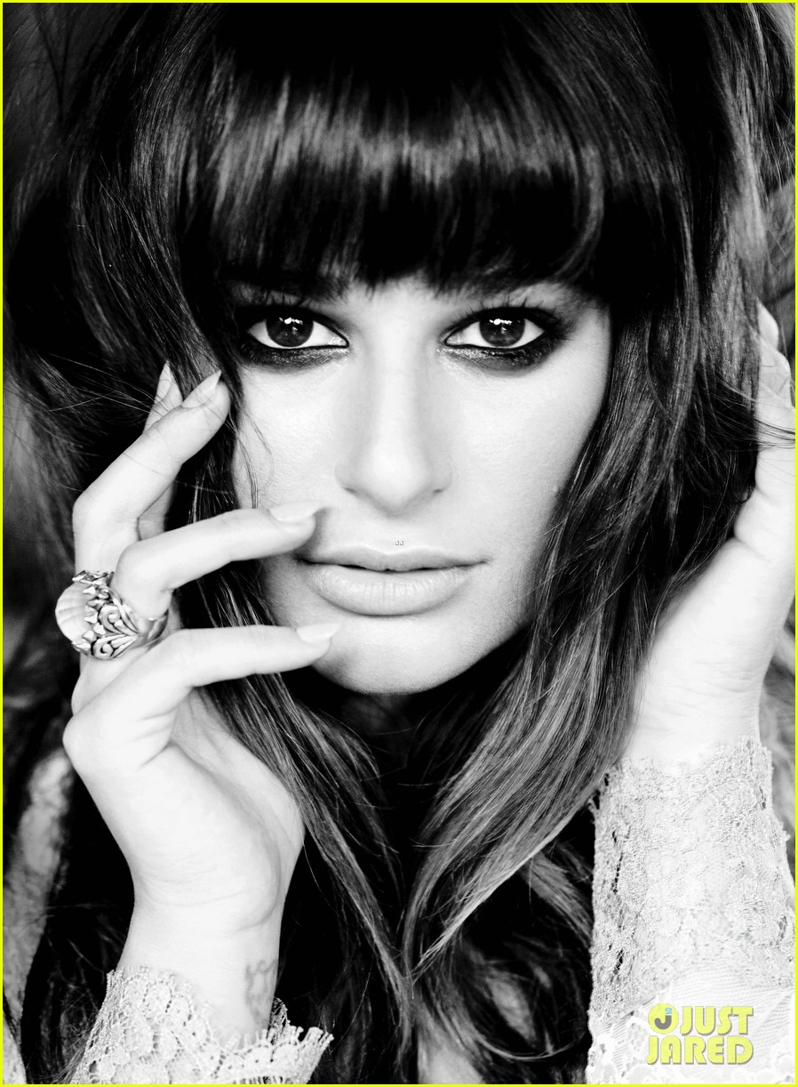 lea michele covers flare january 2013 032764151