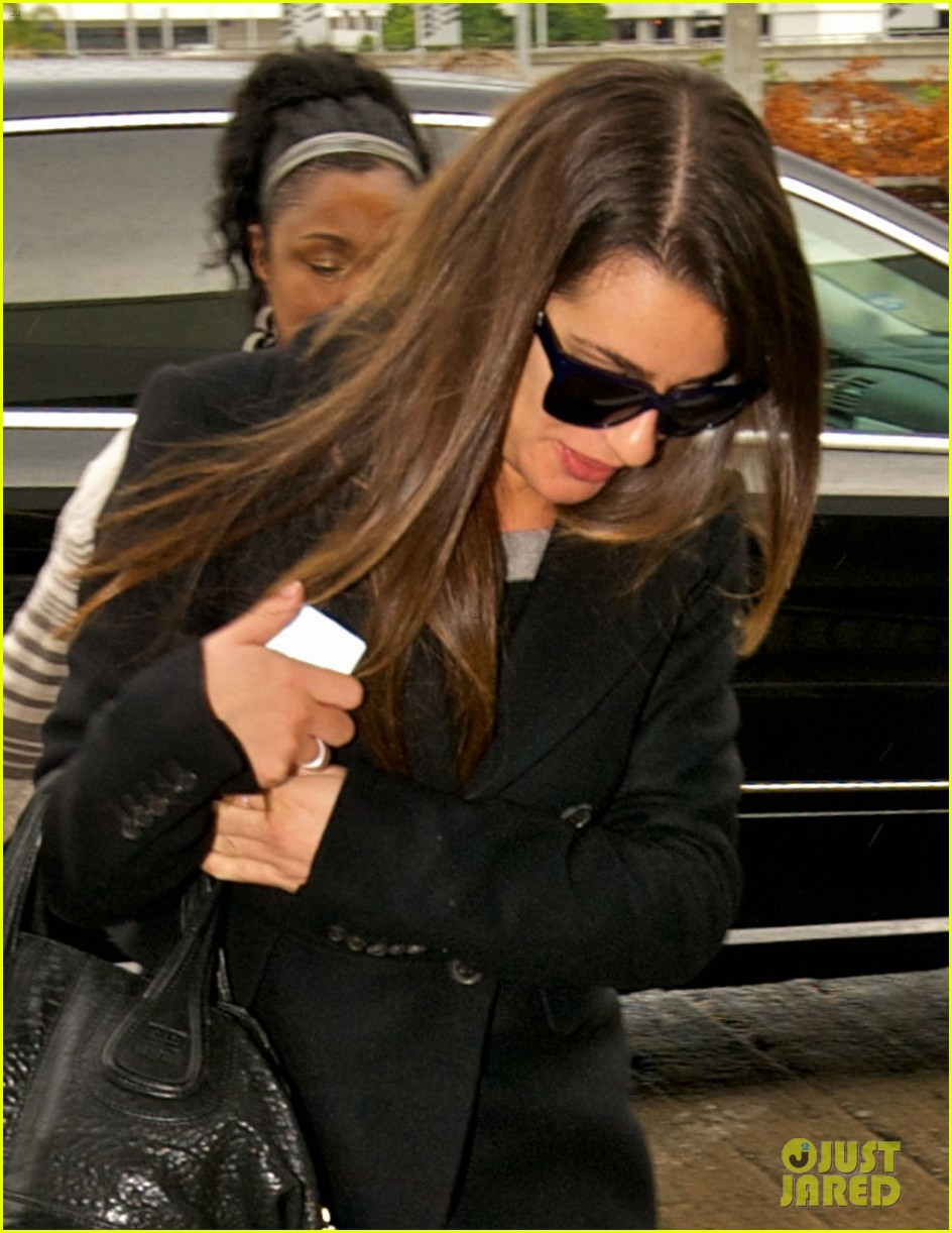 lea michele chris colfer jet to nyc for glee filming 022759754