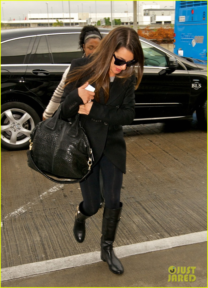 lea michele chris colfer jet to nyc for glee filming 032759755