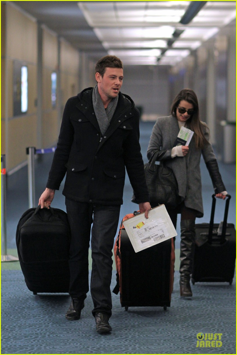 lea michele cory monteith vancouver departing couple 012763865