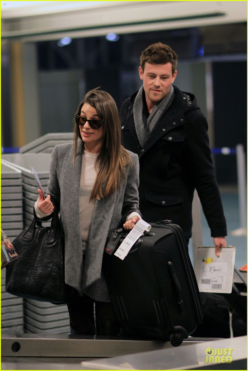 lea michele cory monteith vancouver departing couple 022763866