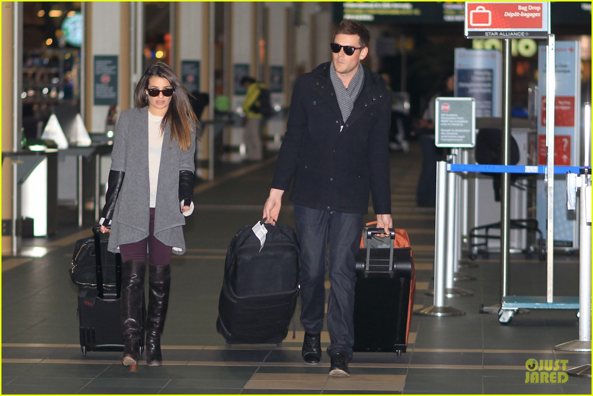 lea michele cory monteith vancouver departing couple 032763867