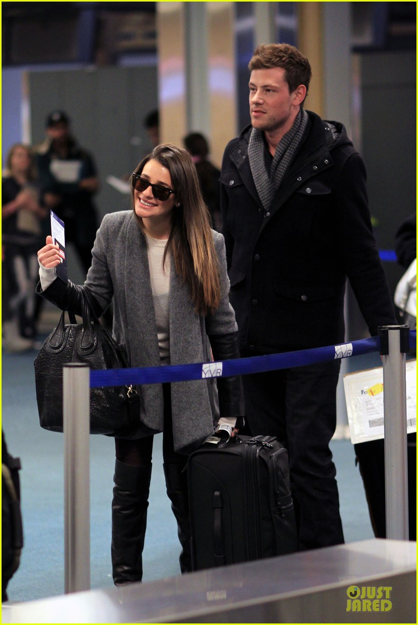 lea michele cory monteith vancouver departing couple 042763868