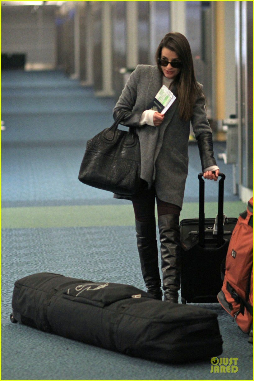 lea michele cory monteith vancouver departing couple 05