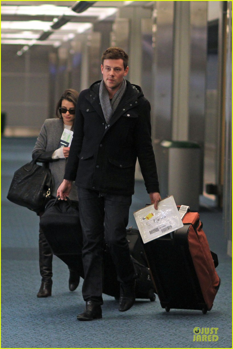 lea michele cory monteith vancouver departing couple 062763870