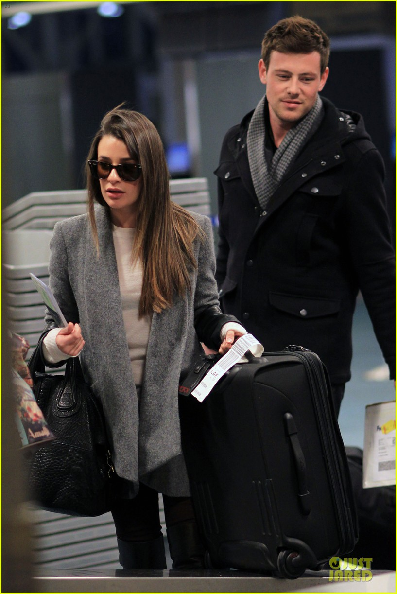 lea michele cory monteith vancouver departing couple 072763871
