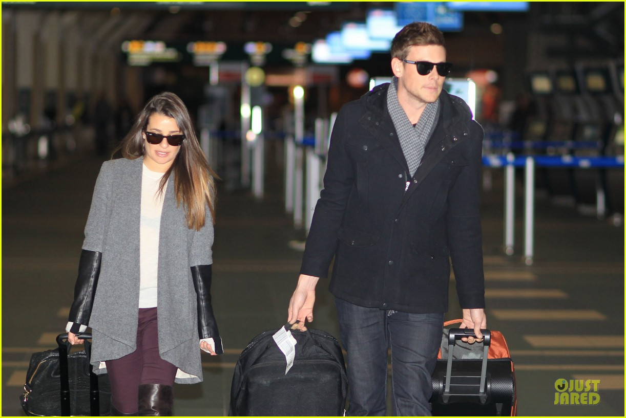 lea michele cory monteith vancouver departing couple 082763872
