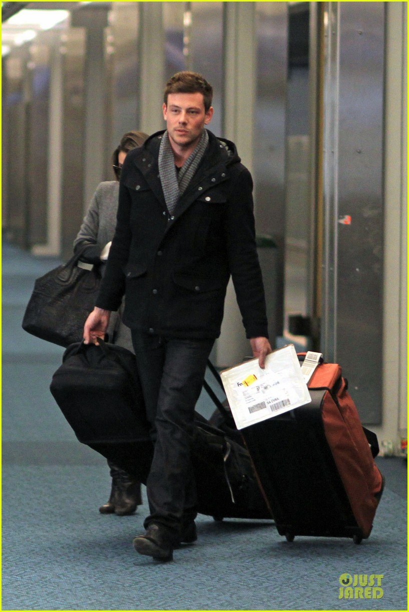 lea michele cory monteith vancouver departing couple 102763874