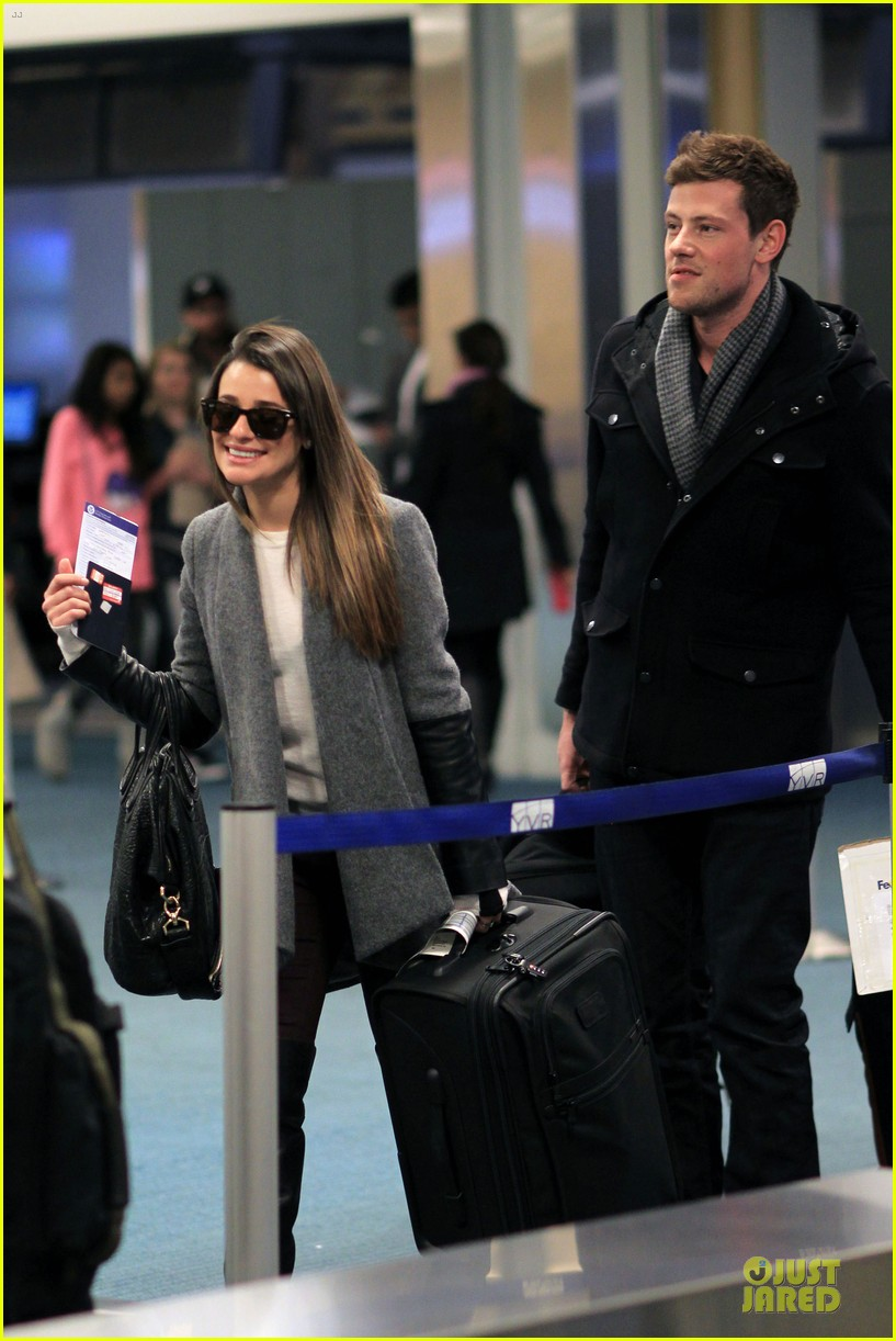 lea michele cory monteith vancouver departing couple 122763876