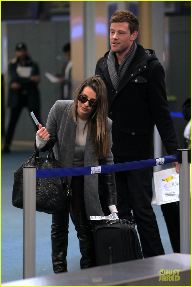 lea michele cory monteith vancouver departing couple 132763877