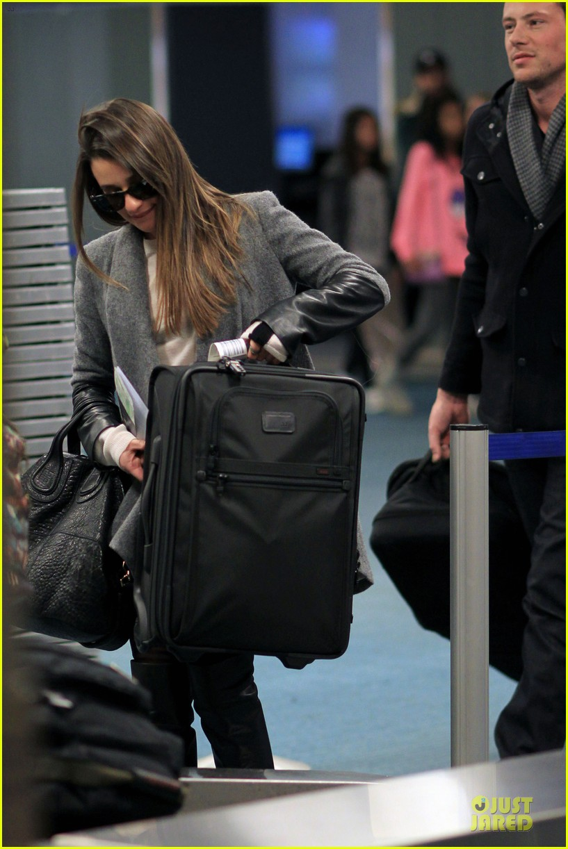 lea michele cory monteith vancouver departing couple 152763879