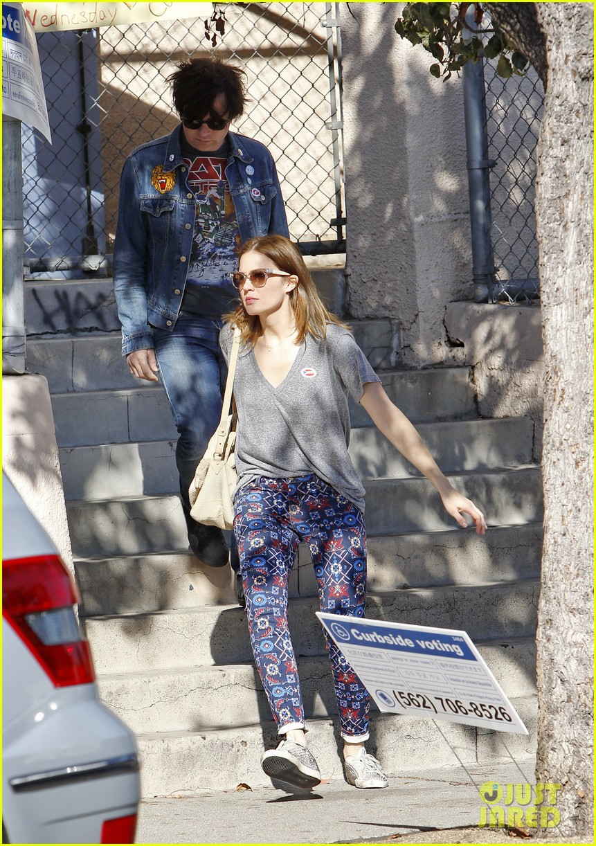 mandy moore votes with birthday boy ryan adams 172752175