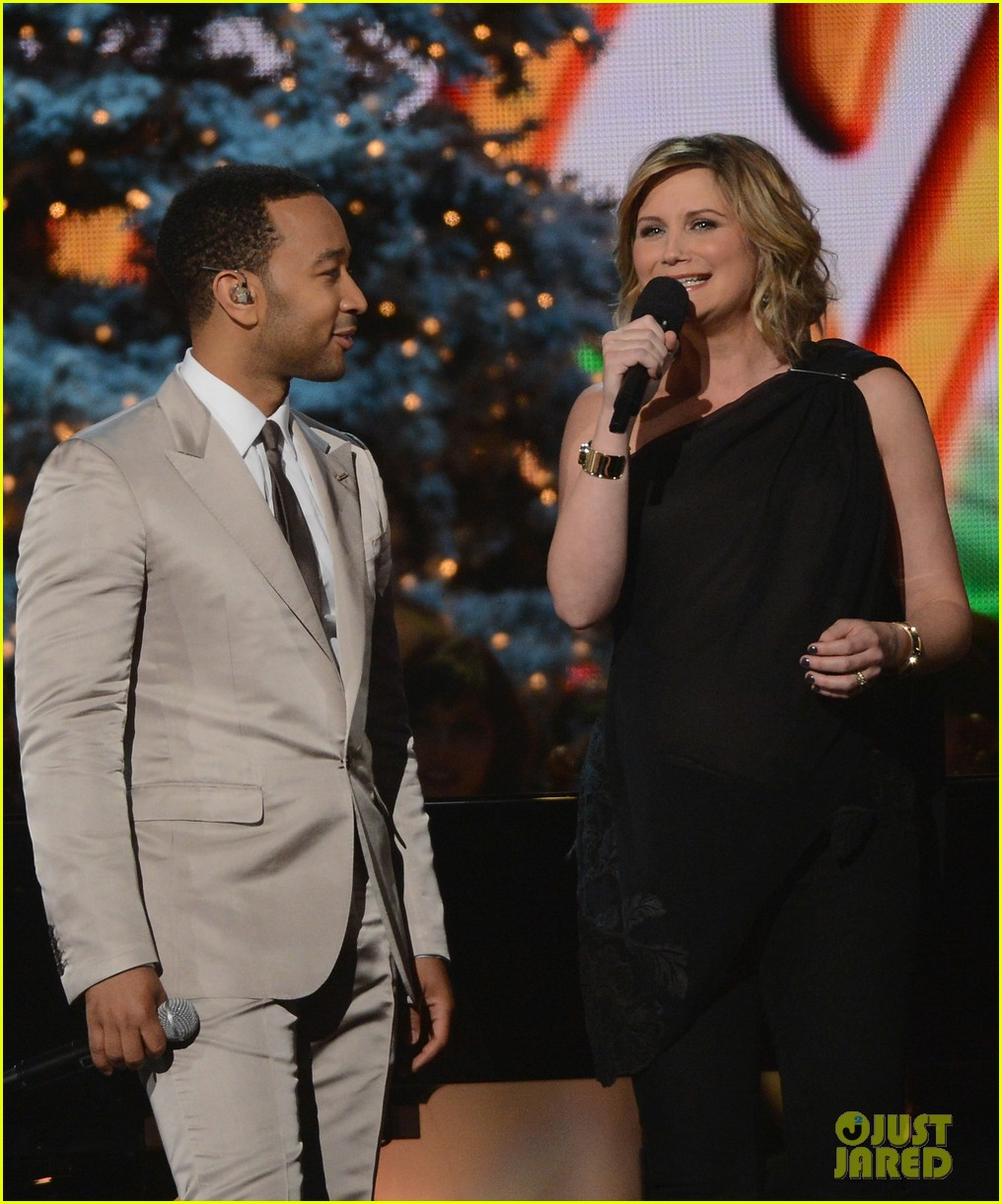 keith urban jennifer nettles country christmas taping 122750591