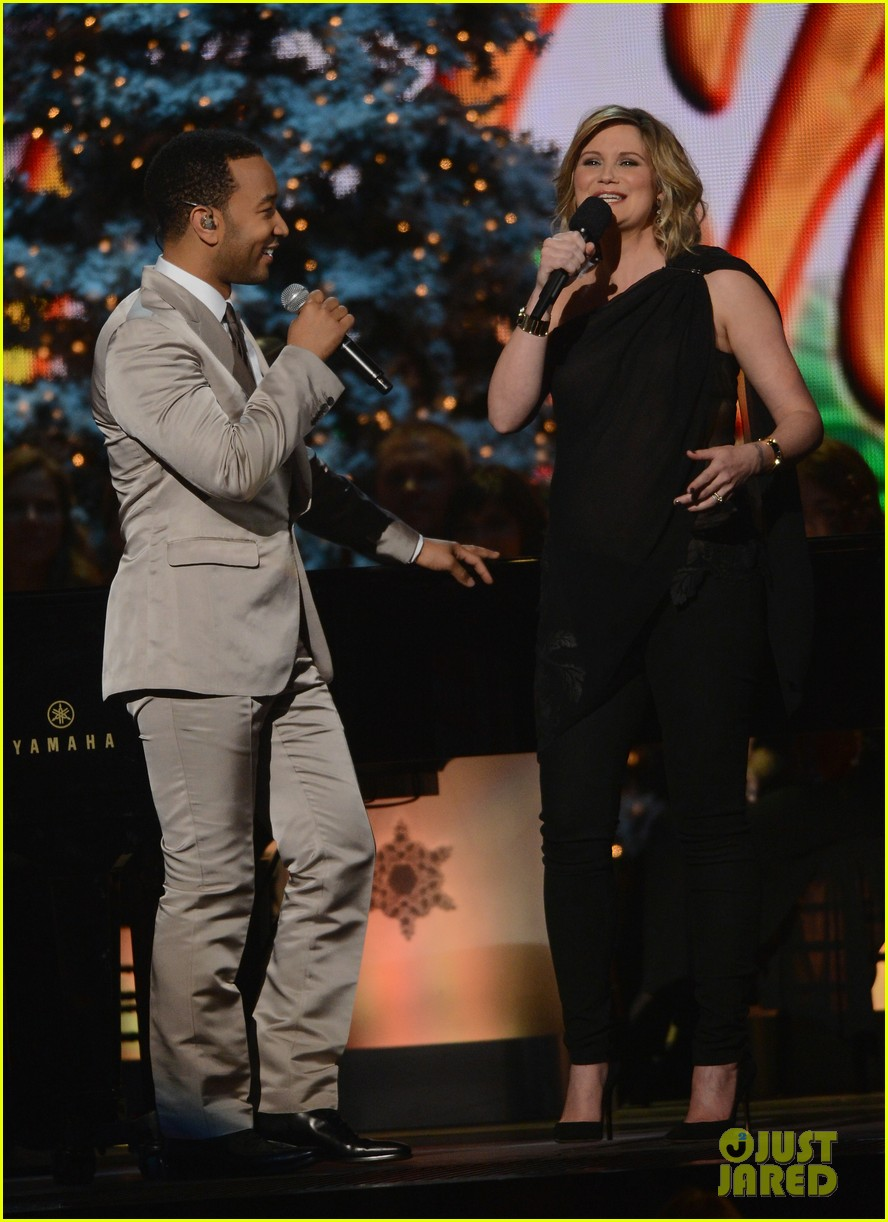 keith urban jennifer nettles country christmas taping 142750593