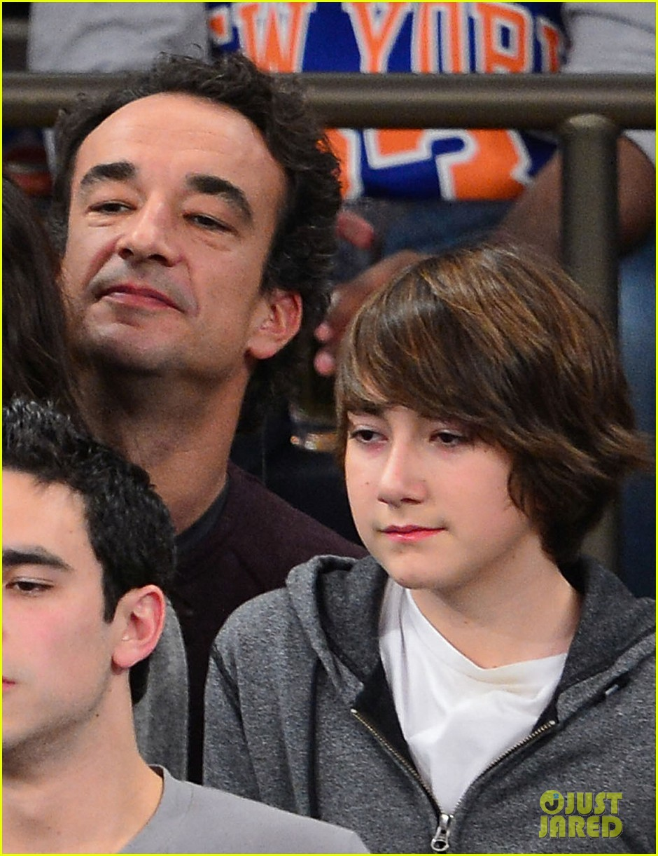 mary kate olsen knicks game with olivier sarkozy kids 022755136