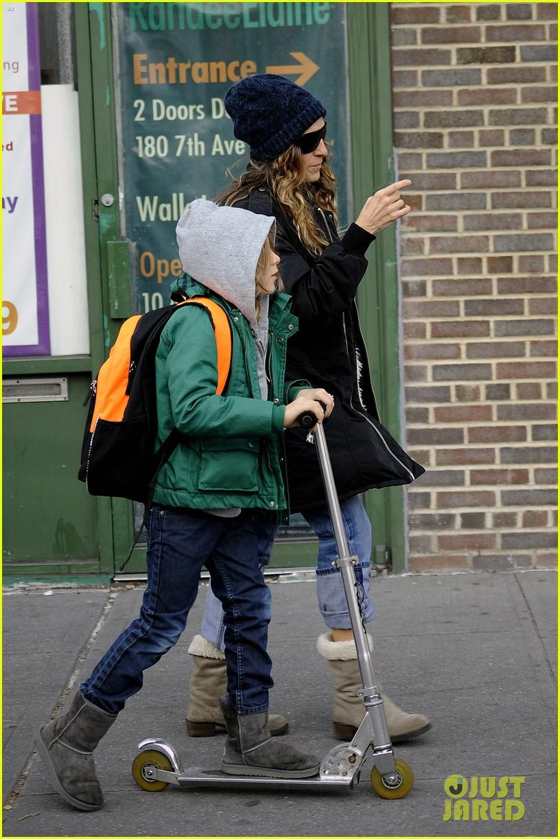 sarah jessica parker matthew broderick school stroll with kids 122764438