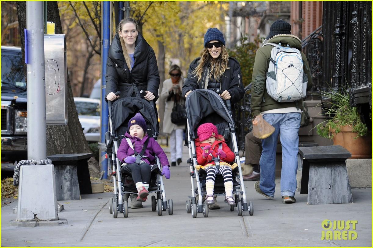 sarah jessica parker matthew broderick school stroll with kids 222764448