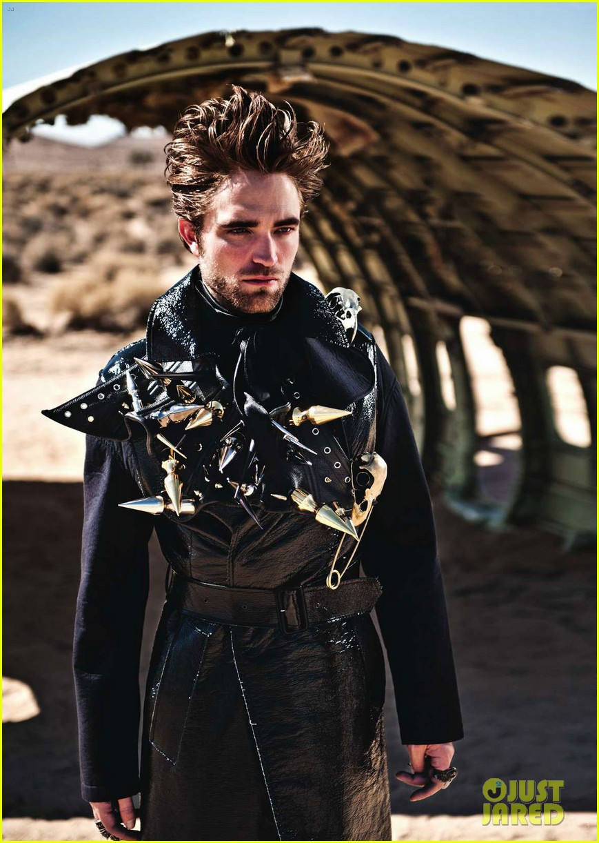 robert pattinson leather studs for luomo vogue 01