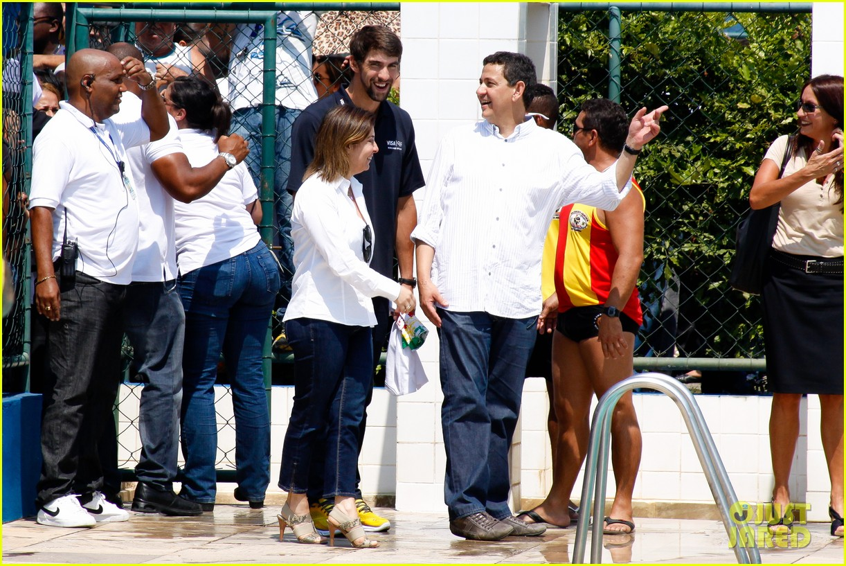 michael phelps shirtless speedo swim class in brazil 062749445