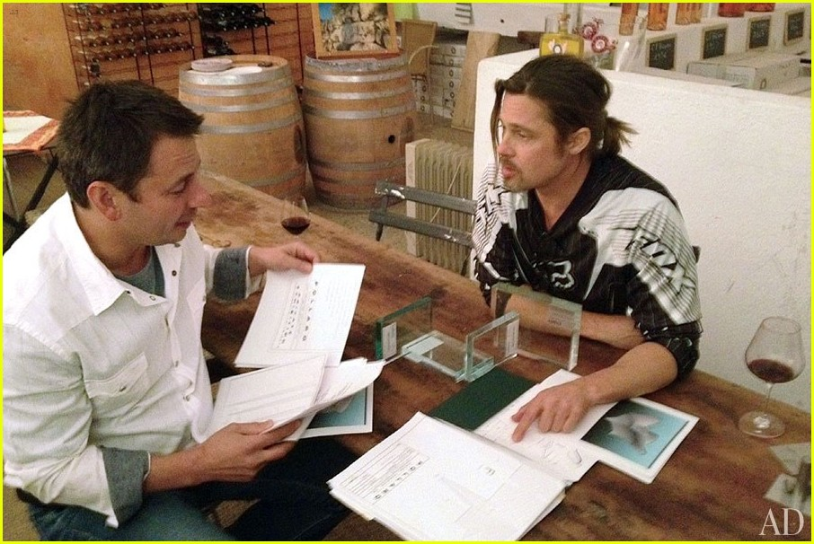 brad pitt furniture designer for pollaro