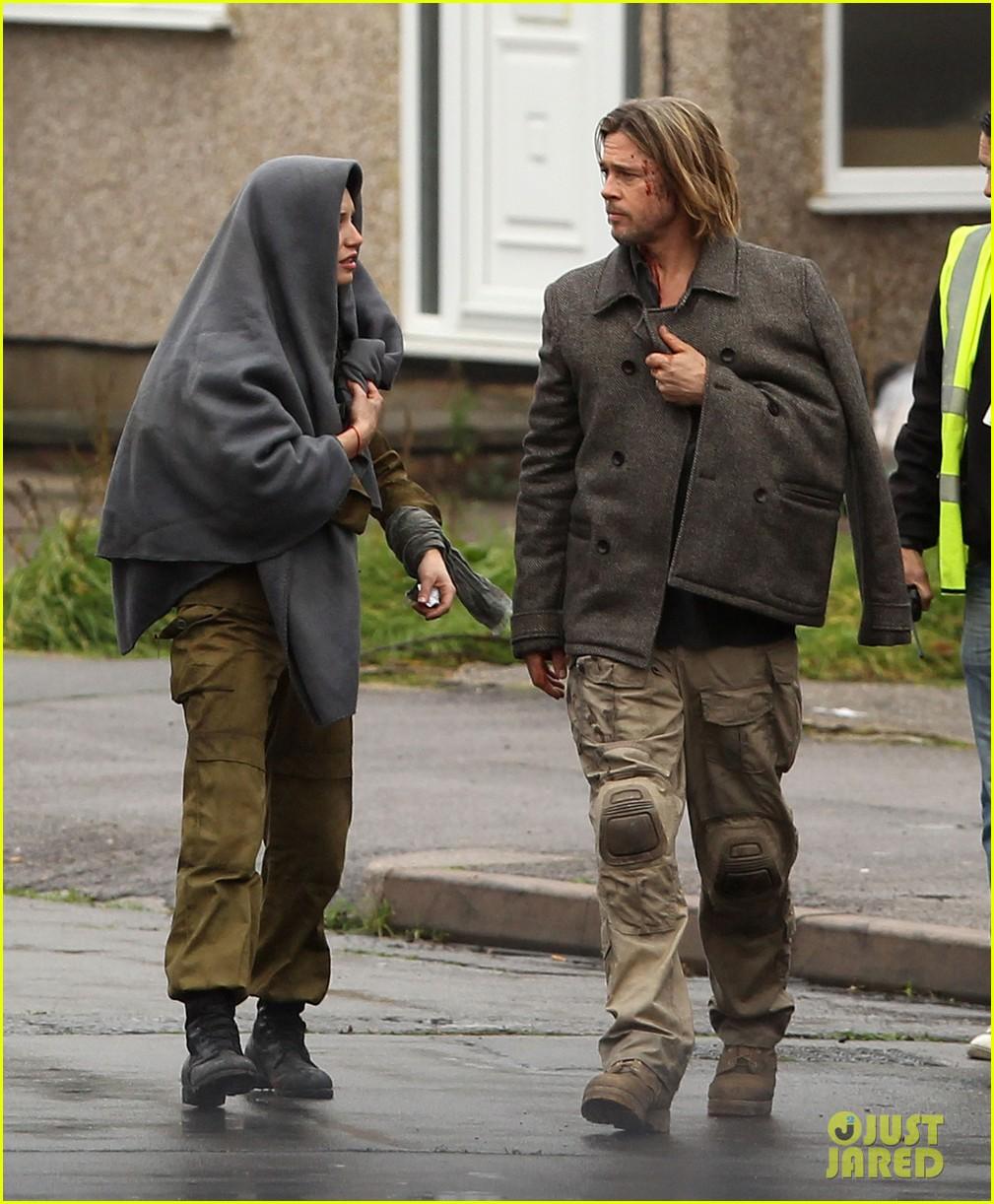 Brad Pitt World War Z Re Shoots Photo 2758095 Brad