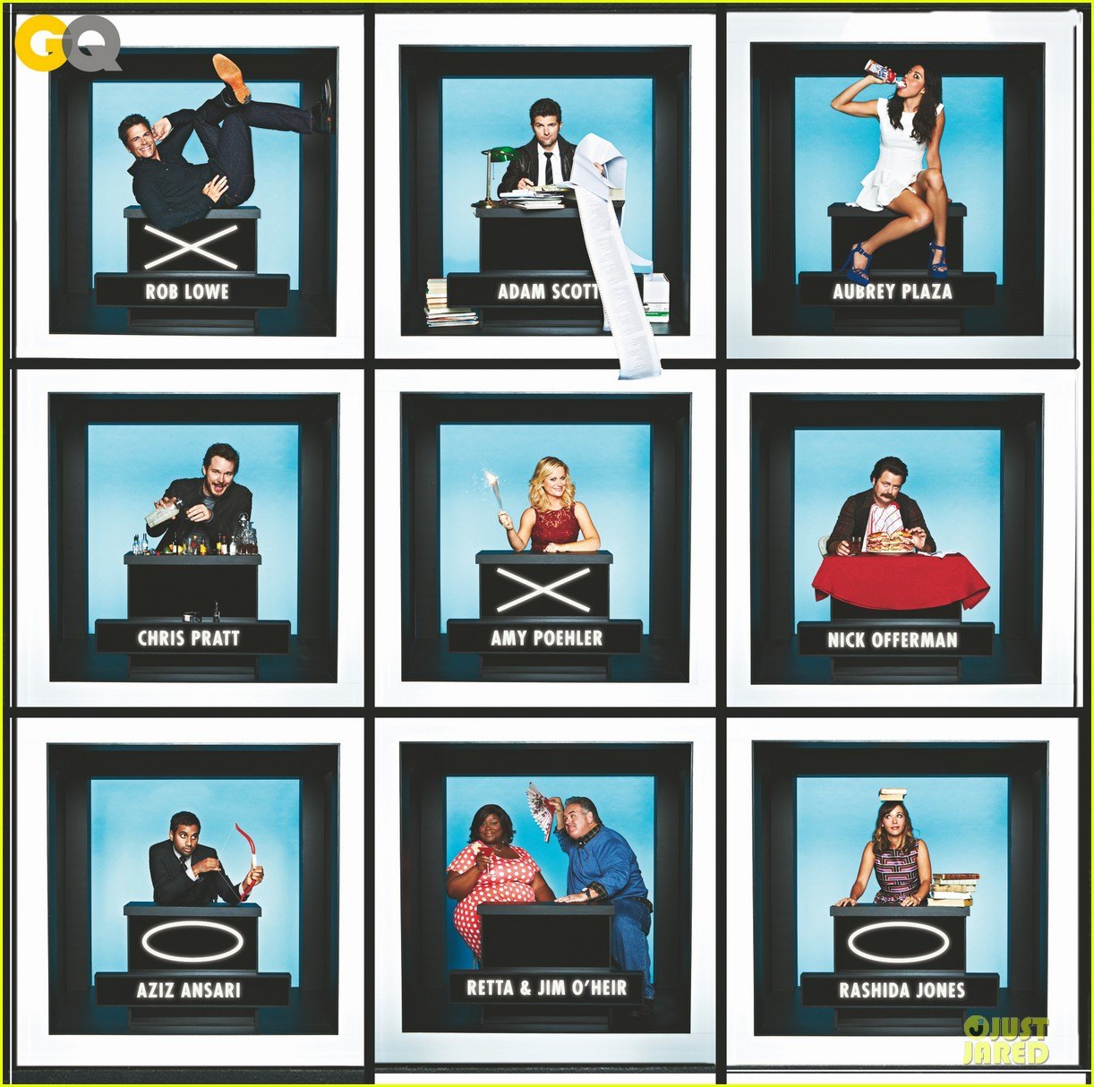 amy poehler hollywood squares with parks rec cast 052762471