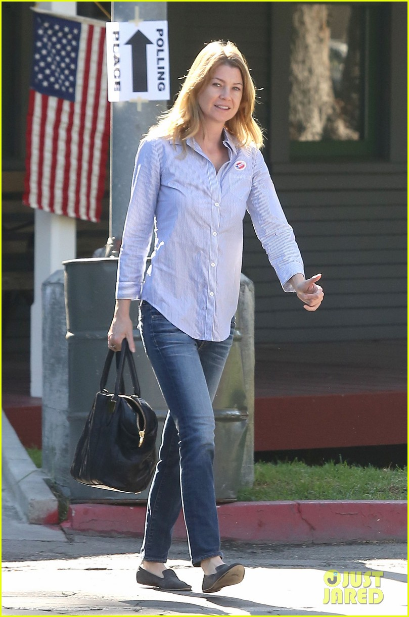 ellen pompeo election day voting with chris ivery 102752151