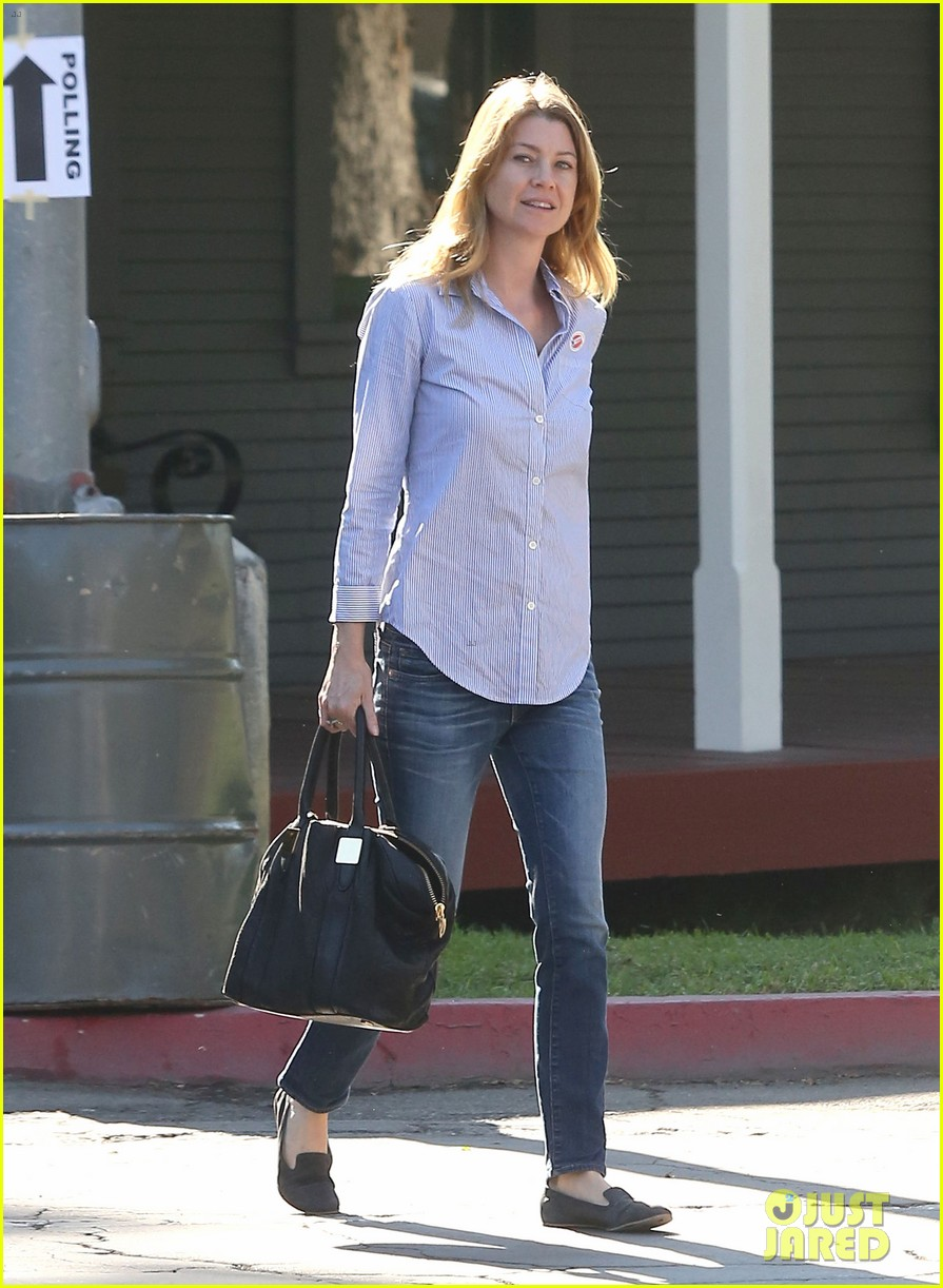 ellen pompeo election day voting with chris ivery 112752152