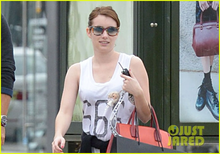 emma roberts 666 t shirt shopping spree 022754230