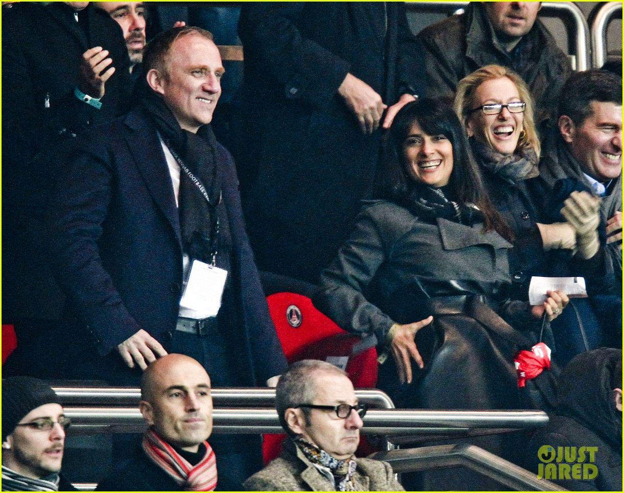 salma hayek french first league soccer fan 102759940