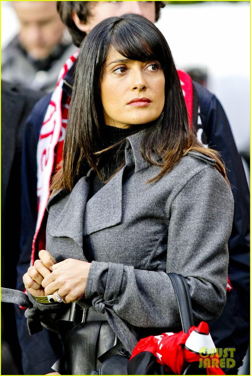 salma hayek french first league soccer fan 132759943