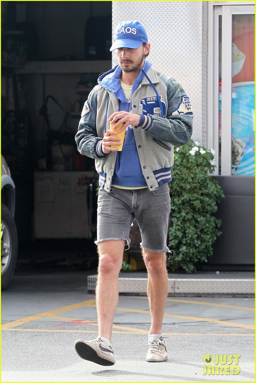 shia labeouf cutoff short shorts in hollywood 092765327