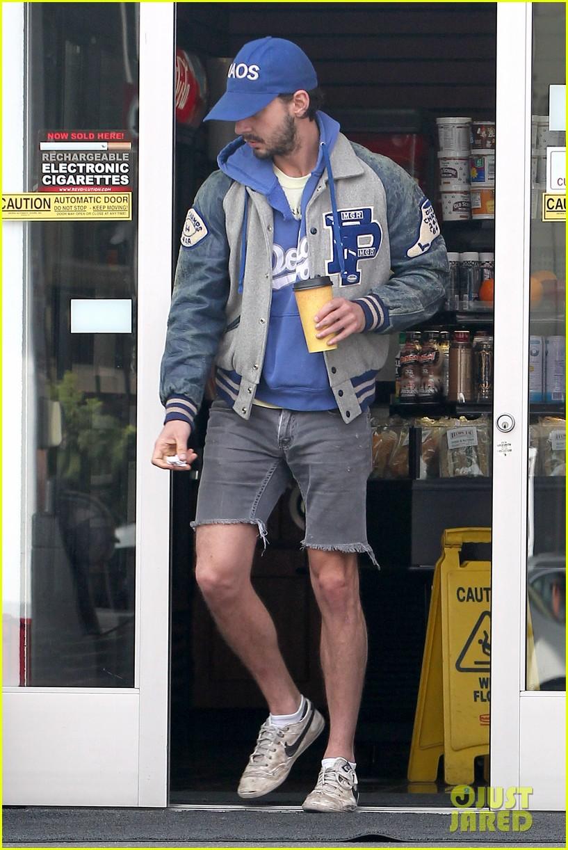 shia labeouf cutoff short shorts in hollywood 142765332