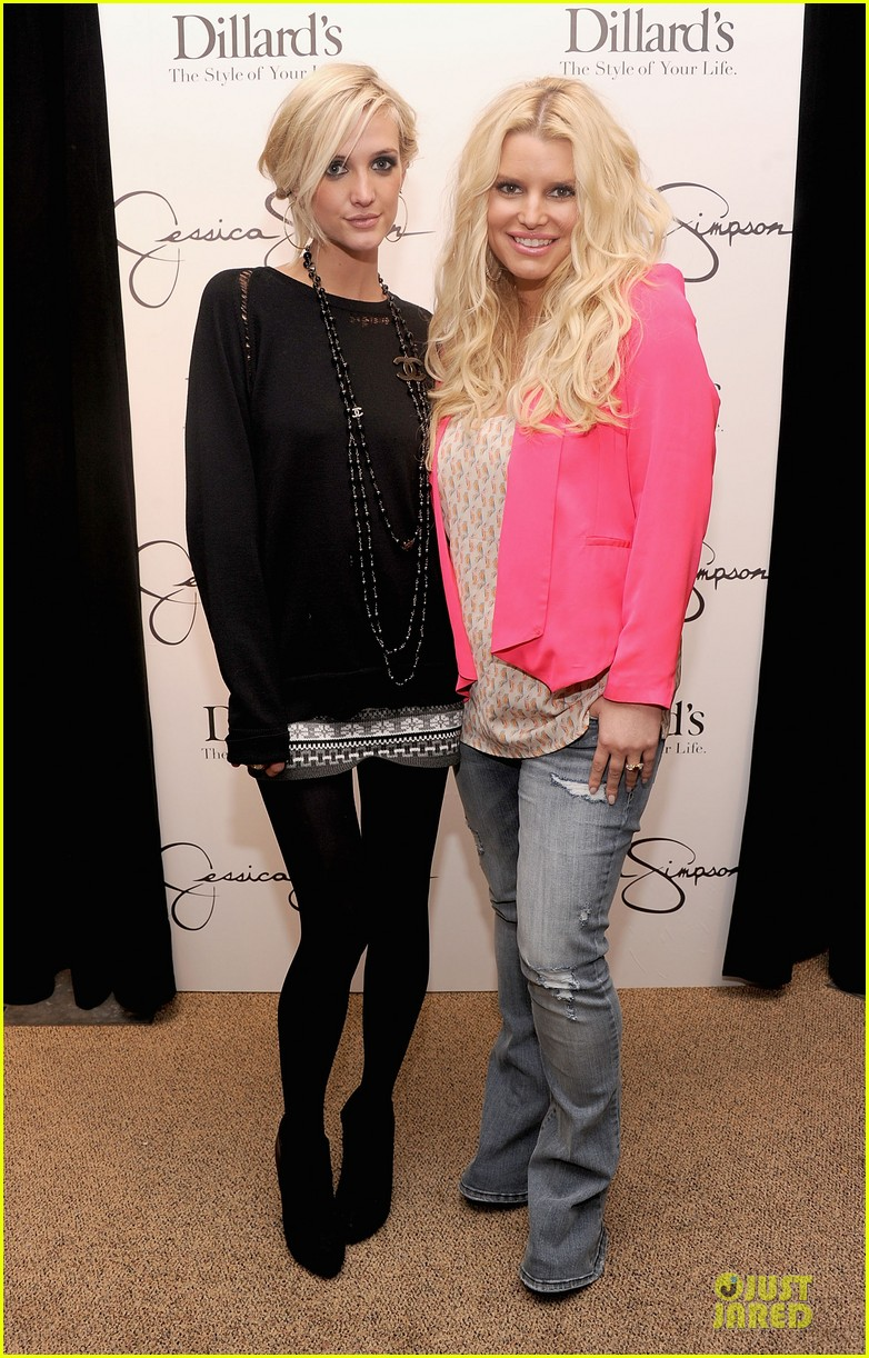 jessica simpson ashlee simpson jessica simpson collection promotion in florida 152759611