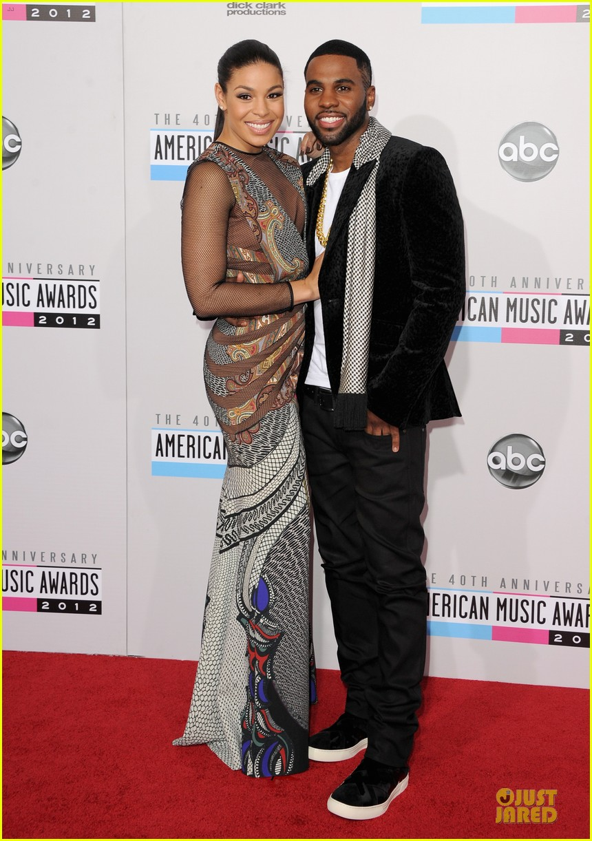 jordin sparks jason derulo ama 2012 red carpet 012760152