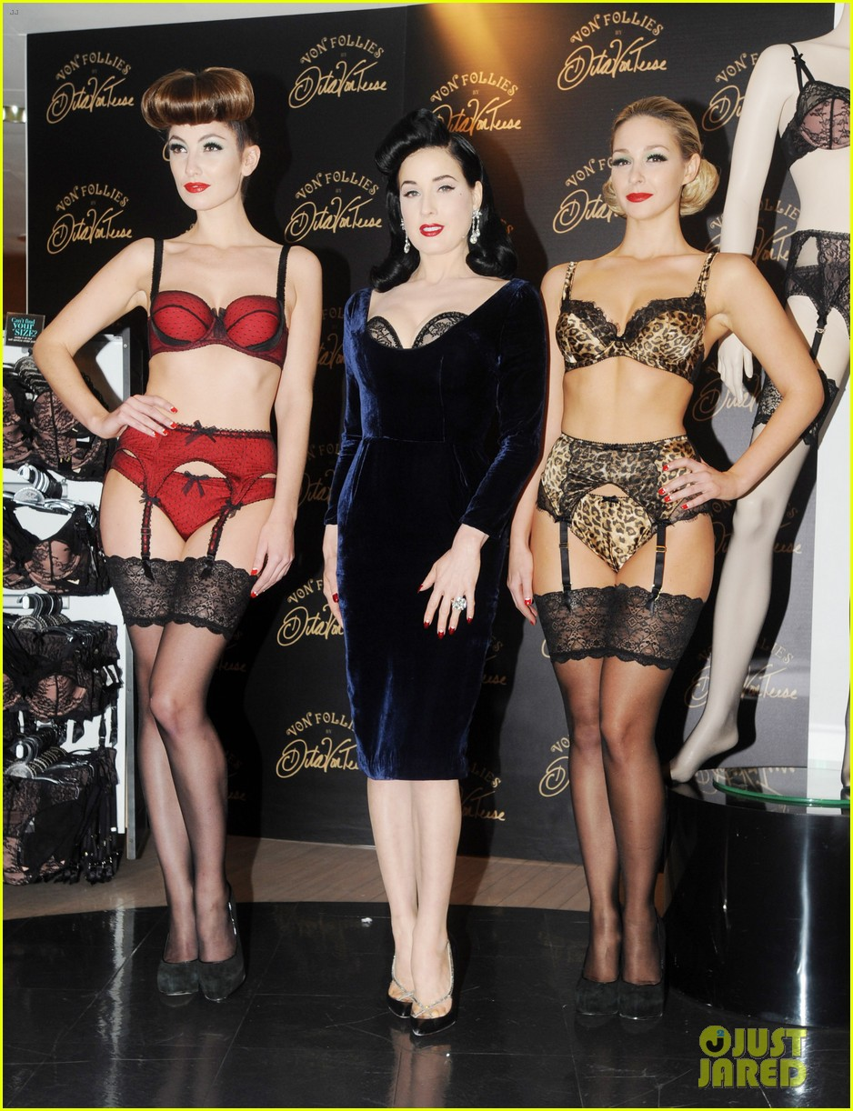 dita von teese von follies lingerie launch 07