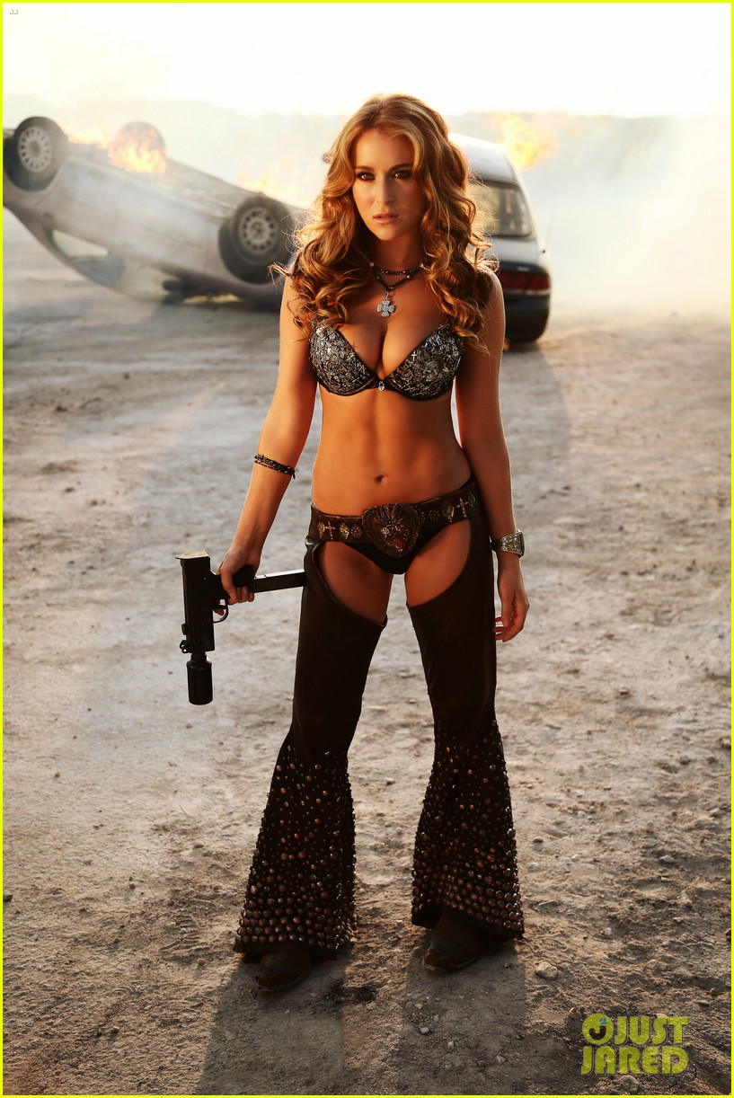 alexa vega bikini chaps for machete kills photo