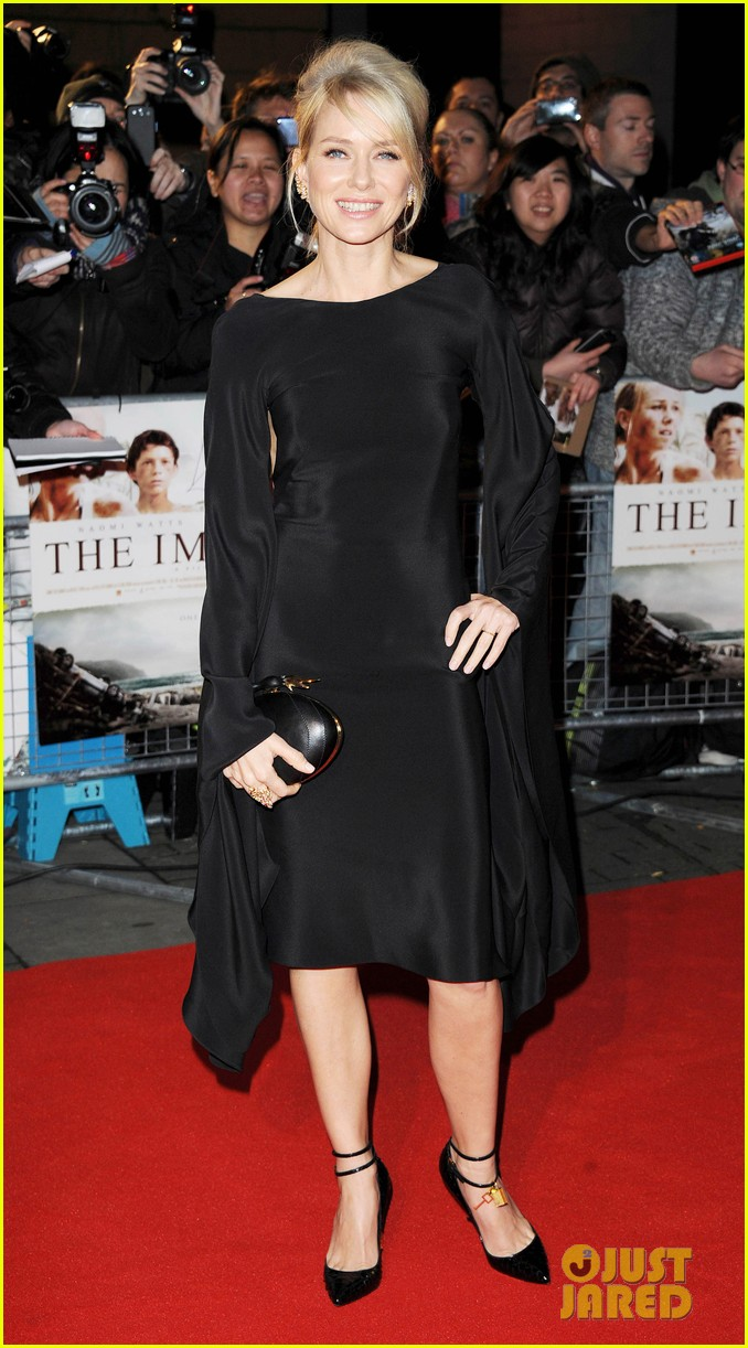 naomi watts backless dress at impossible premiere 012760895