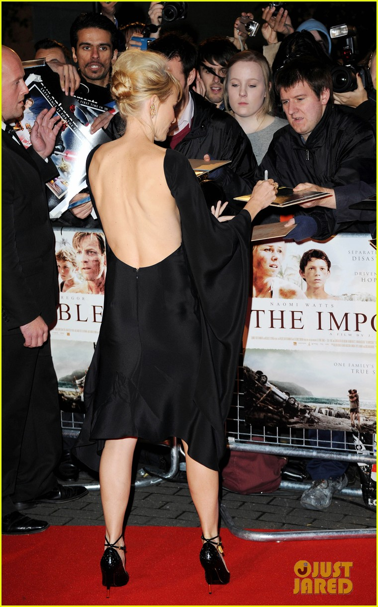 naomi watts backless dress at impossible premiere 152760909